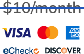 Usually $10 a month but the fee is waived for the first 30 days, DesignPay accepts Visa, MasterCard, American Express, Discover, and eChecks