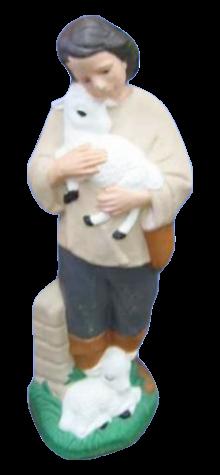 Shepherd With Lambs photo