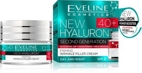 EVELINE New Hyaluron 40+ feszesítő ráncfeltöltő arckrém 50 ml | Eveline Cosmetics