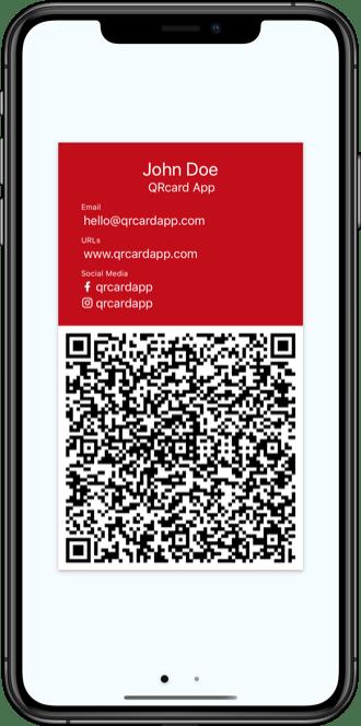 QRcard - digital business card