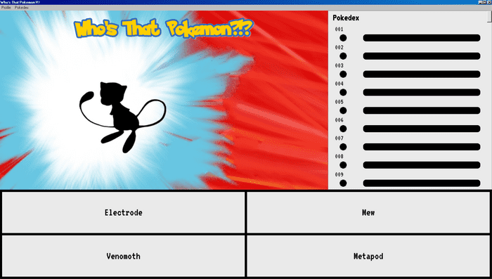 screenshot of the Who's That Pokemon?!? app.