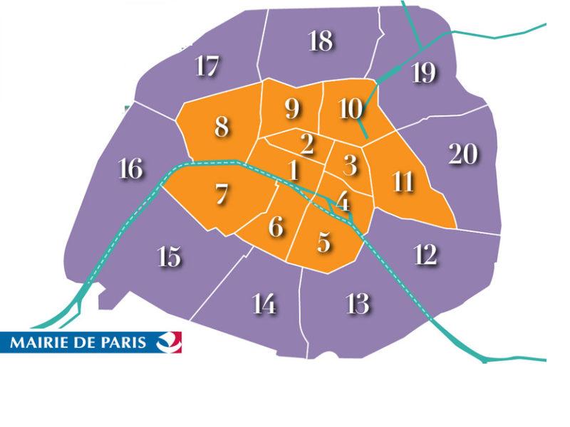 Carte des zones de stationenment Paris