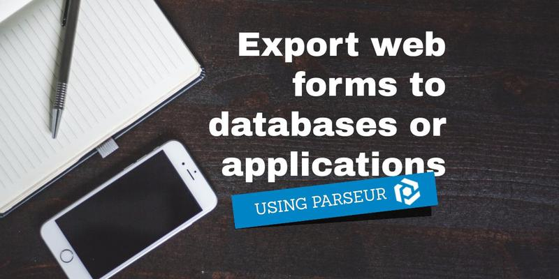 Export web forms to any database or application cover image