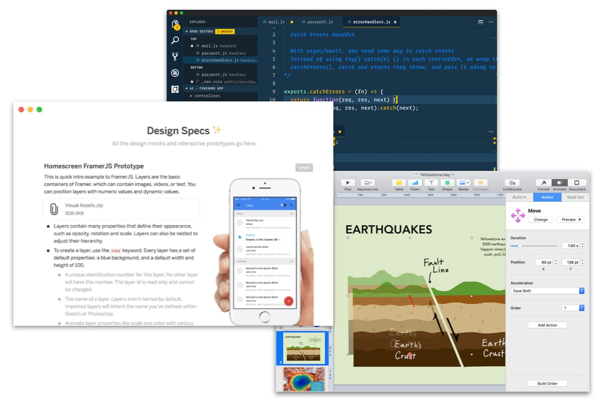 Notion, Keynote, and Sublime Text