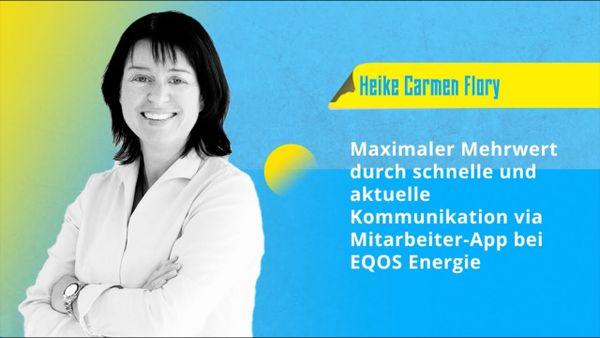 Heike Carmen Flory: Die Mitarbeiter-App bei EQOS Energie