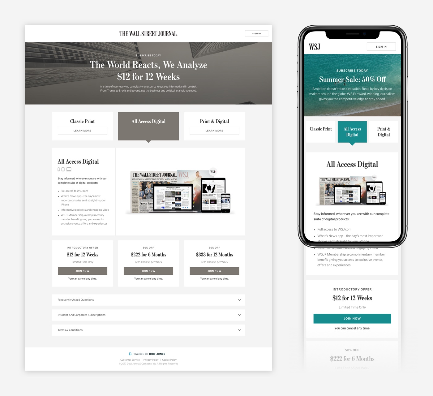 Responsive storefront templates can be adjusted for seasonal         promotions.