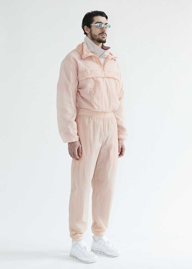 Efe Sheer Windbreaker Rose. GmbH SS20 collection.
