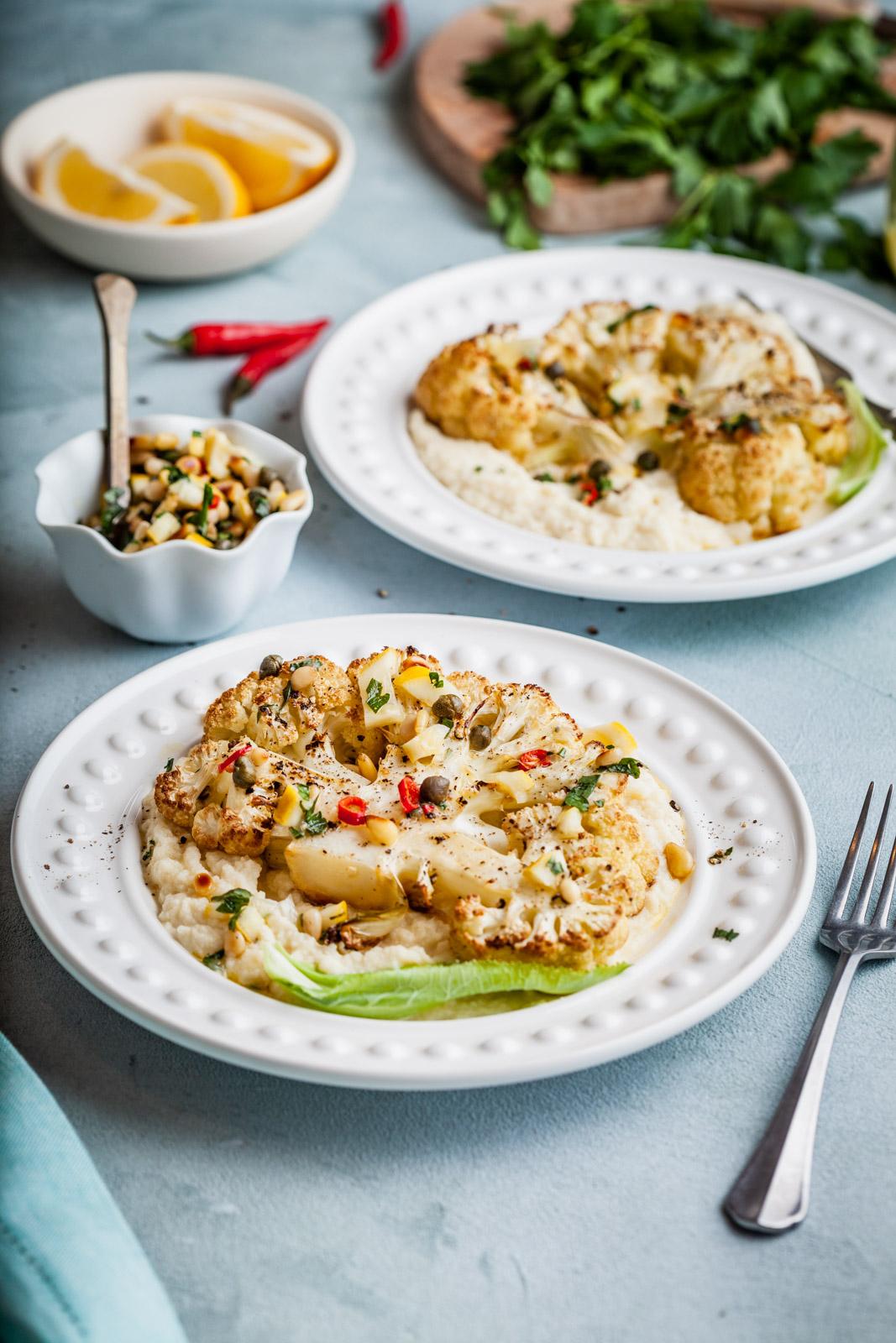 Cauliflower Steaks With Lemon Salsa Verde