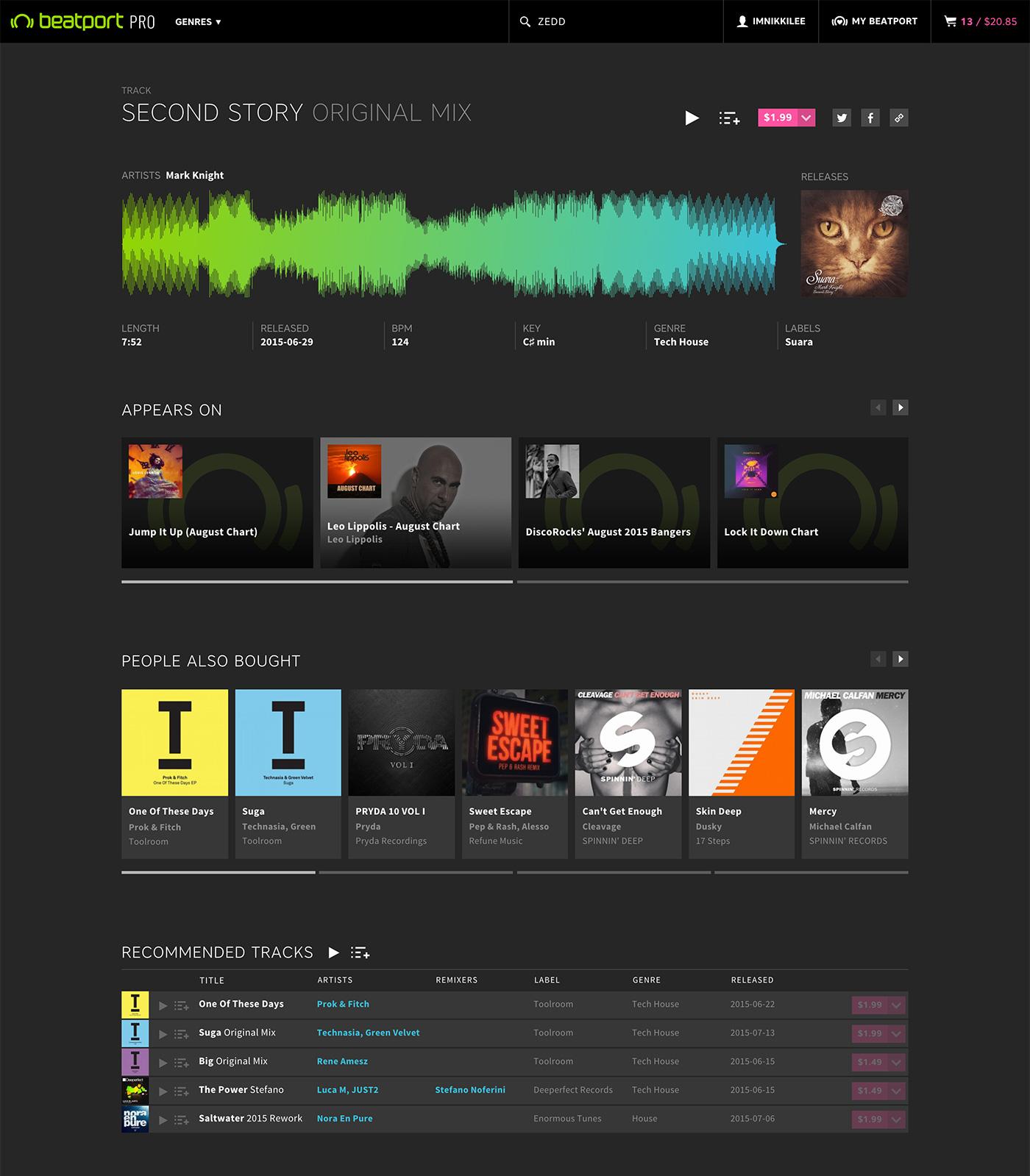 desktop track page