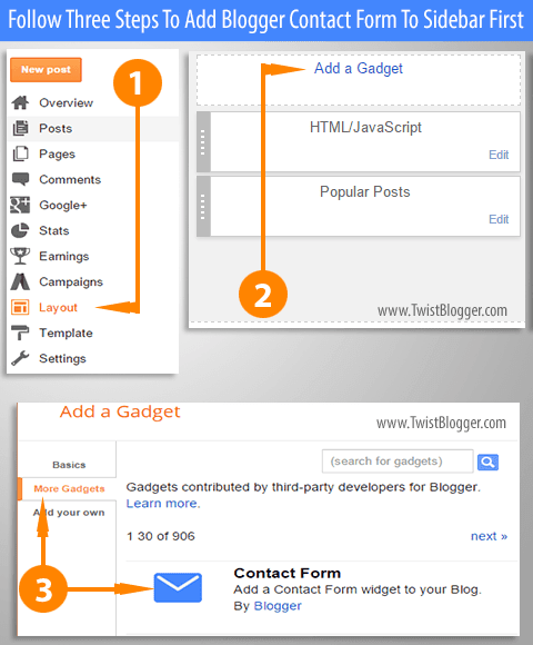 Adding Contact Page In Blogger