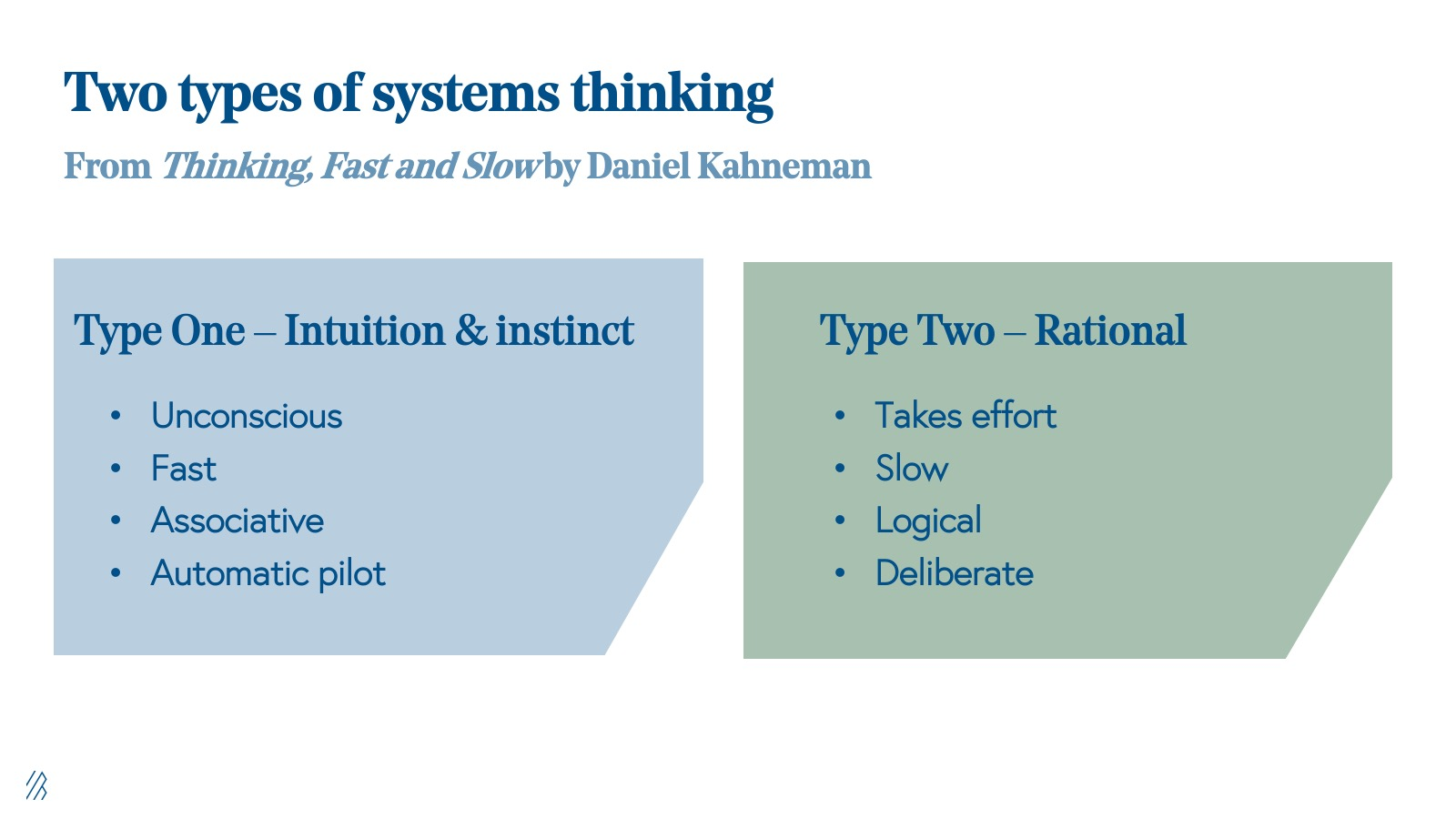 Two types of systems thinking