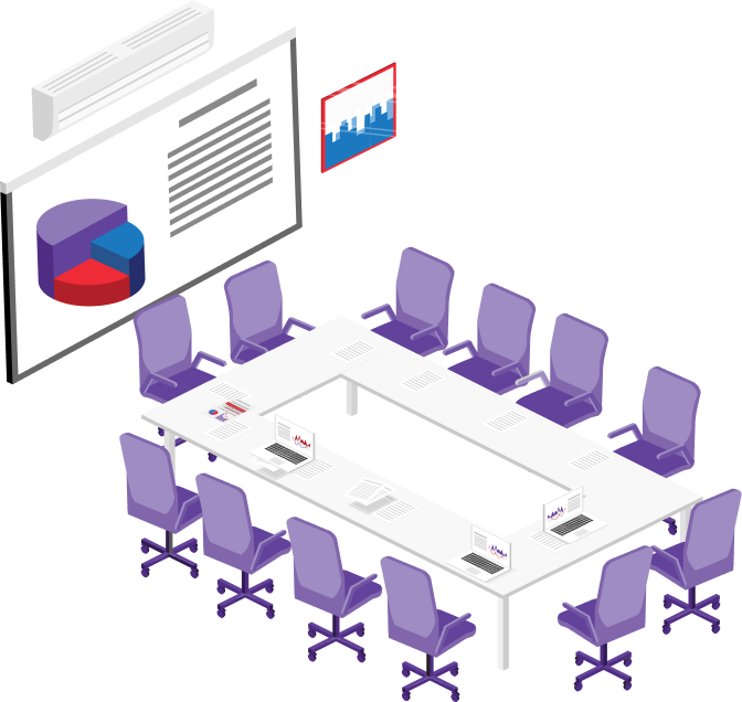 Accruent - About Us - Leadership - Hero - Presentation Illustration
