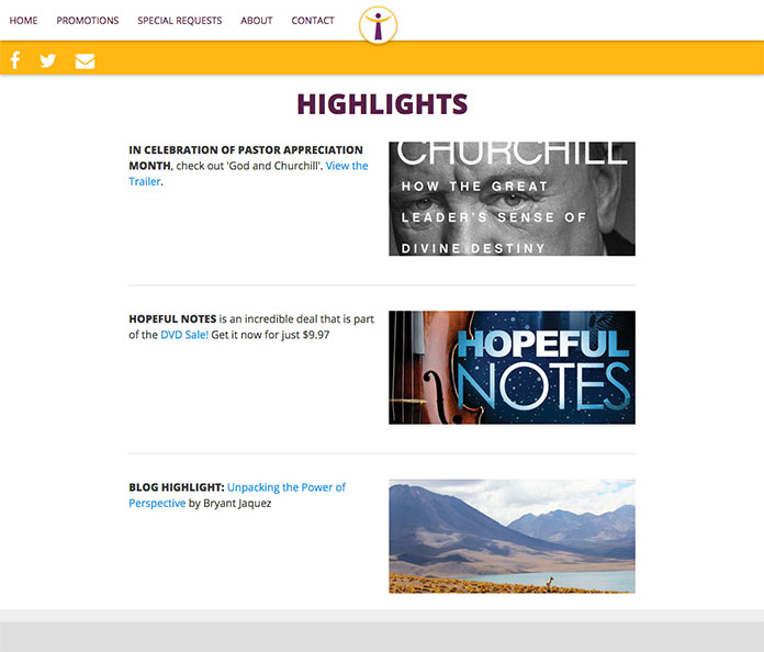 Lighthouse Highlights Page