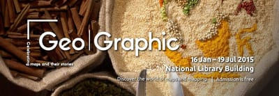 A title card labelled Geo|Graphic: Celebrating maps and their stories. Sacks of spices are in the background.