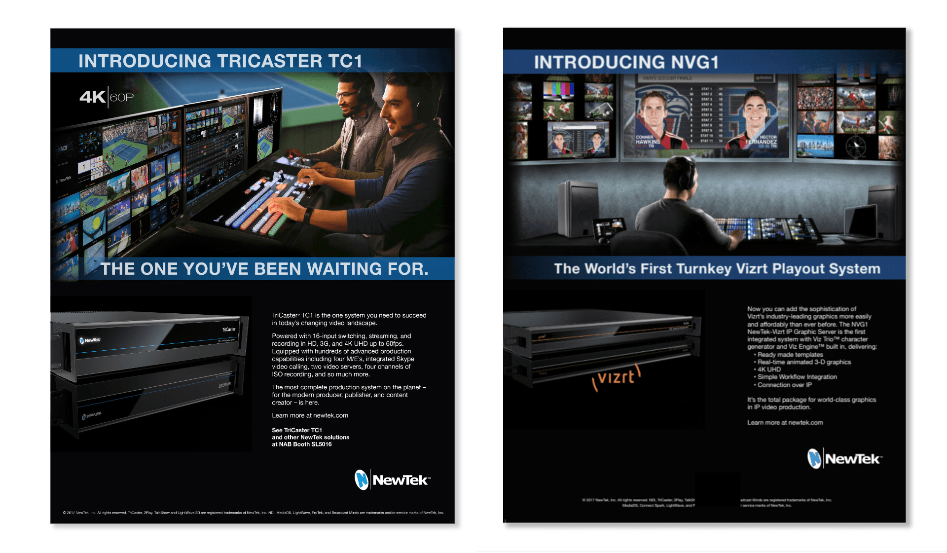 NewTek Trade Magazine Ads