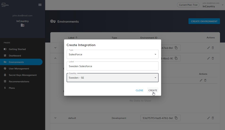 define configuration of the integration