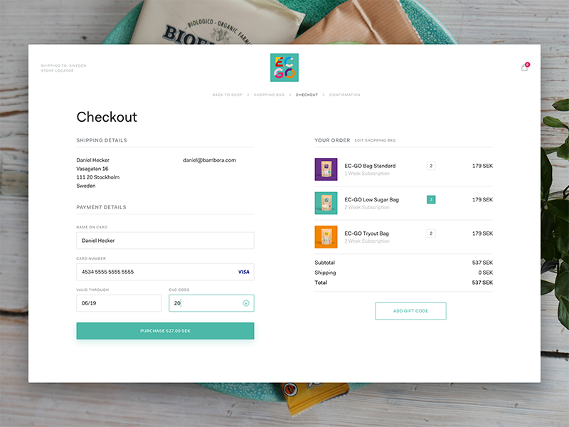 An example of the proximity principle in action: A screenshot of a checkout form