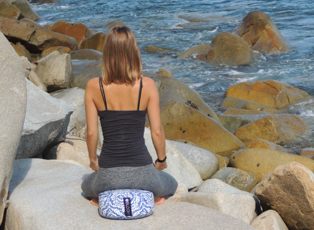 Meditating Using Zafu