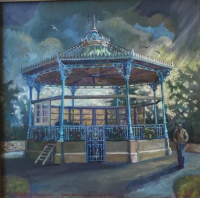painting of the Leas bandstand