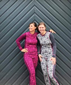 2 women wearing base layer clothing