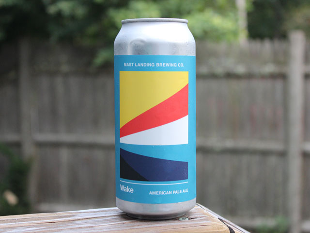 Wake, an American Pale Ale brewed by Mast Landing Brewing Company