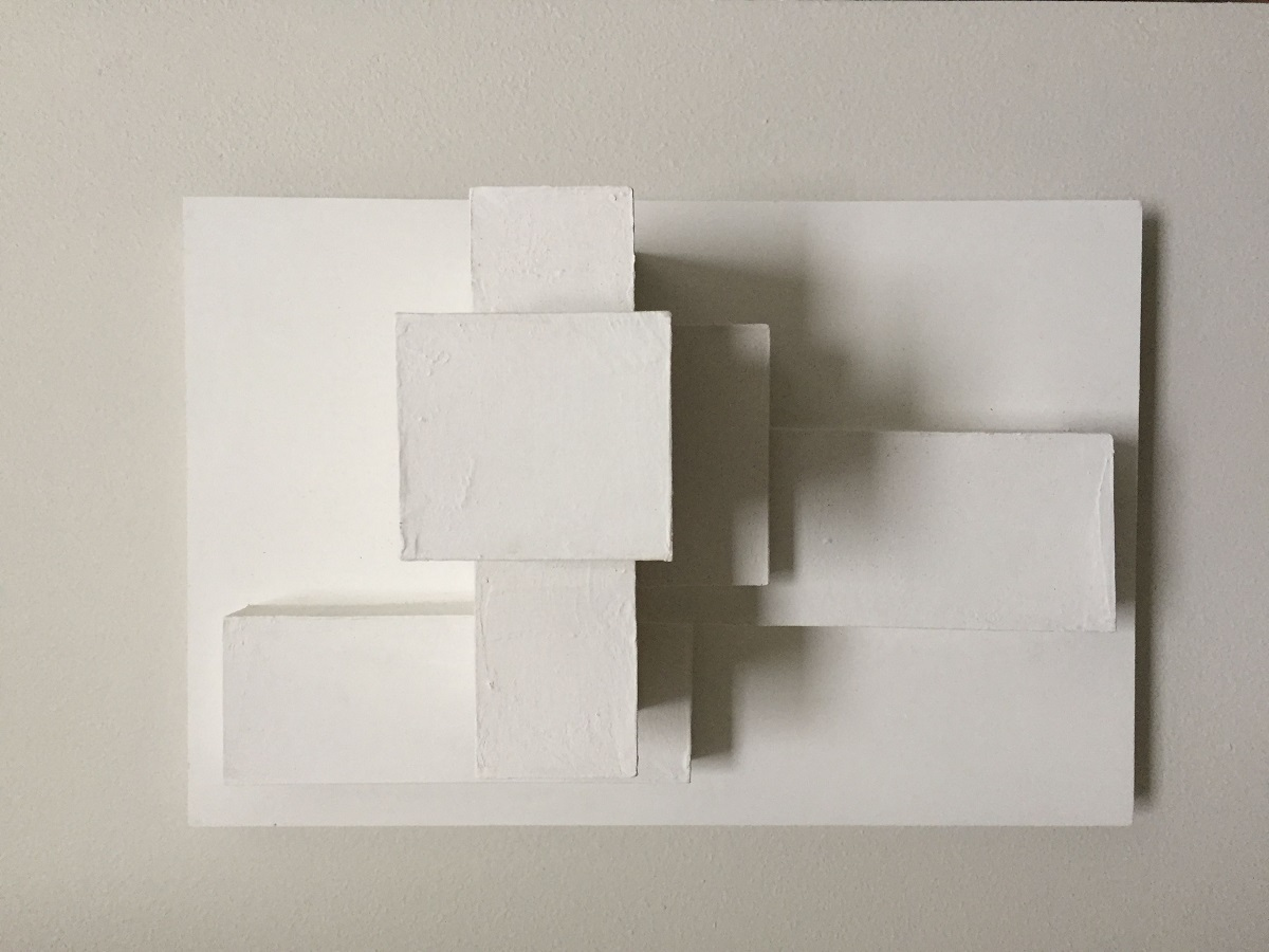 abstract cubes on a white space