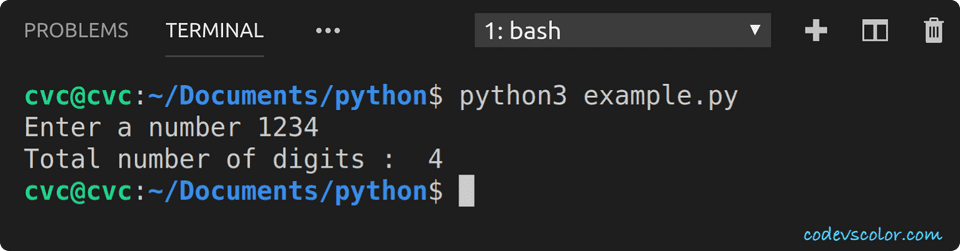 python count digits number
