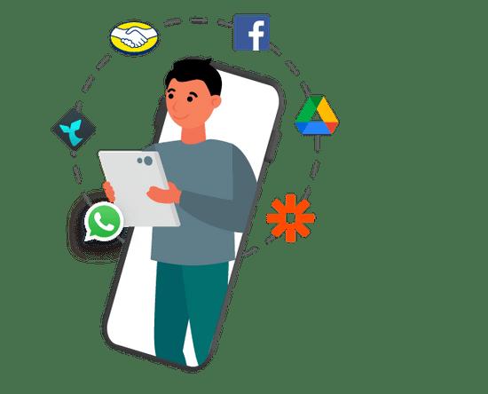 Conecta WhatsApp con las plataformas más usadas del mercado