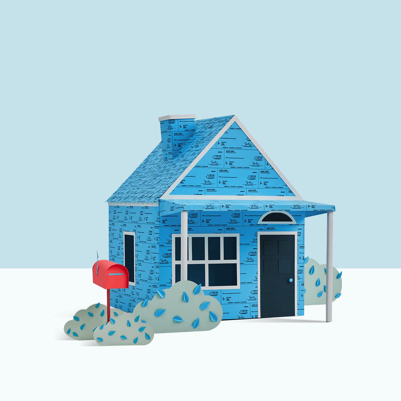 House made of checks