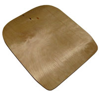 Wooden seat plate