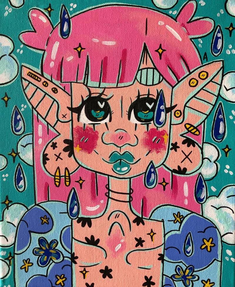 sleepy on a rainy day ♡ 8x10