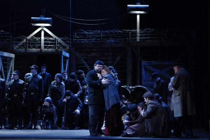 "Robert Thomson's lighting design for the Pacific Opera Victoria's production of ""Manon Lescaut""."