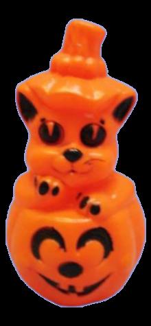 Cat Pumpkin Lamp photo