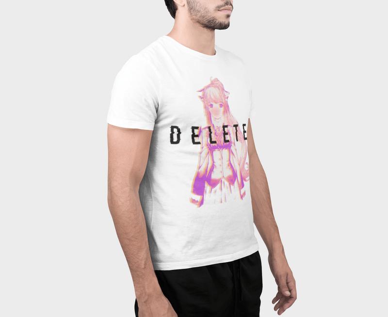 Doki Doki Literature Club Delete Panic T-shirt