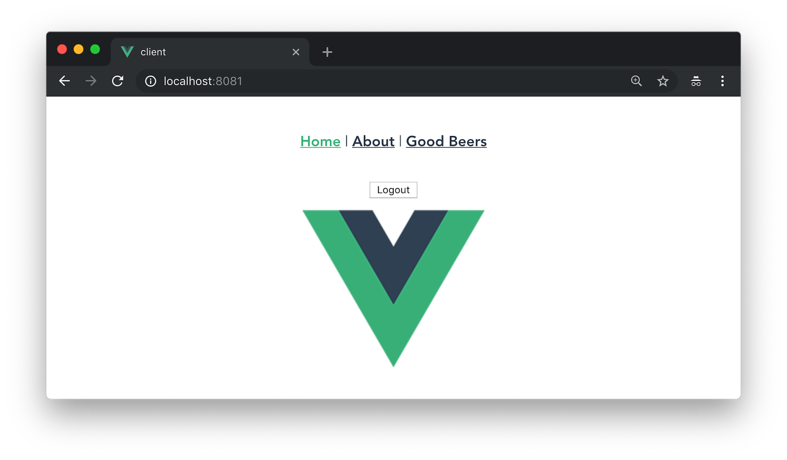 Vue app after authenticating