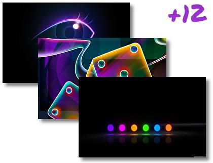 Neon theme pack