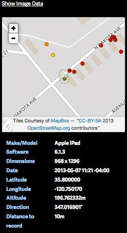 Show image EXIF data