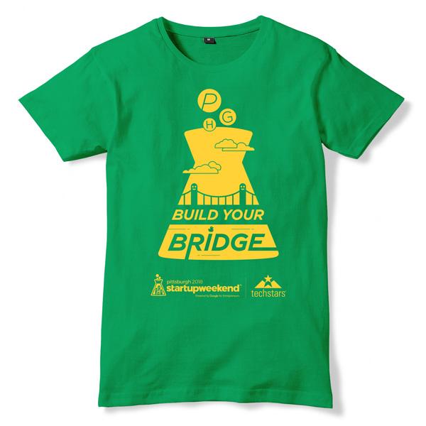 Startup Weekend green shirt