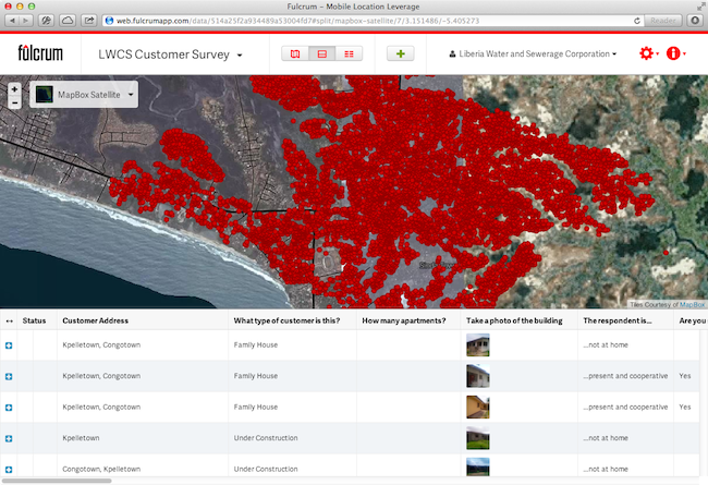Using Fulcrum to Map Water & Sanitation in Liberia