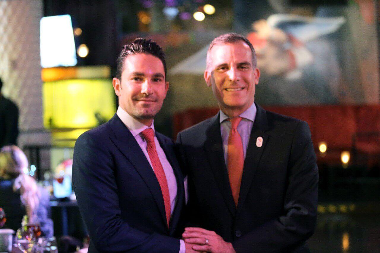 Bobby Saadian with Mayor Garcetti