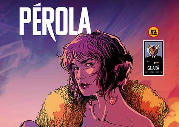 Capa da Edição 1 da HQ Brasileira Pérola da Guará Entretenimento