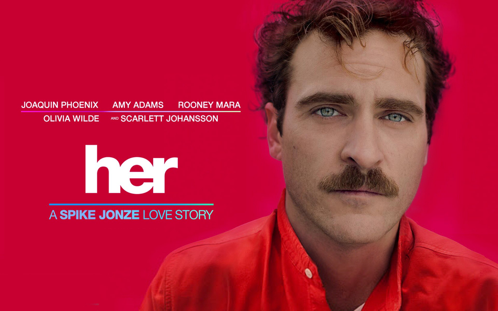 A horizontal version of the movie poster for 'her'.