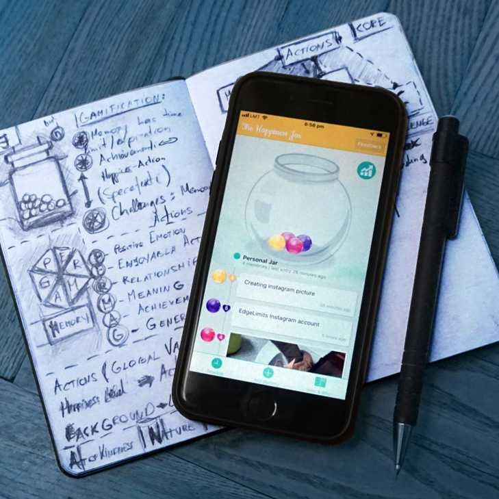 """From sketch to mobile app - """"The Happiness Jar"""""""