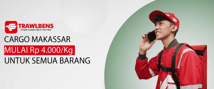 Jasa Cargo Makassar Termurah, Mulai Rp 4.000 / Kg