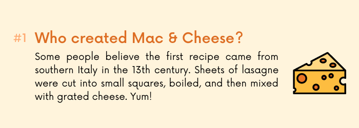 Mac & cheese fact 1