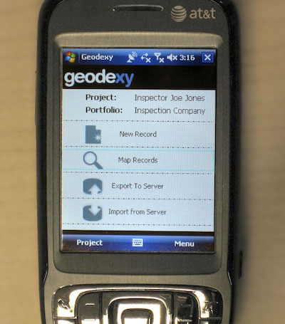 Geodexy Windows Mobile