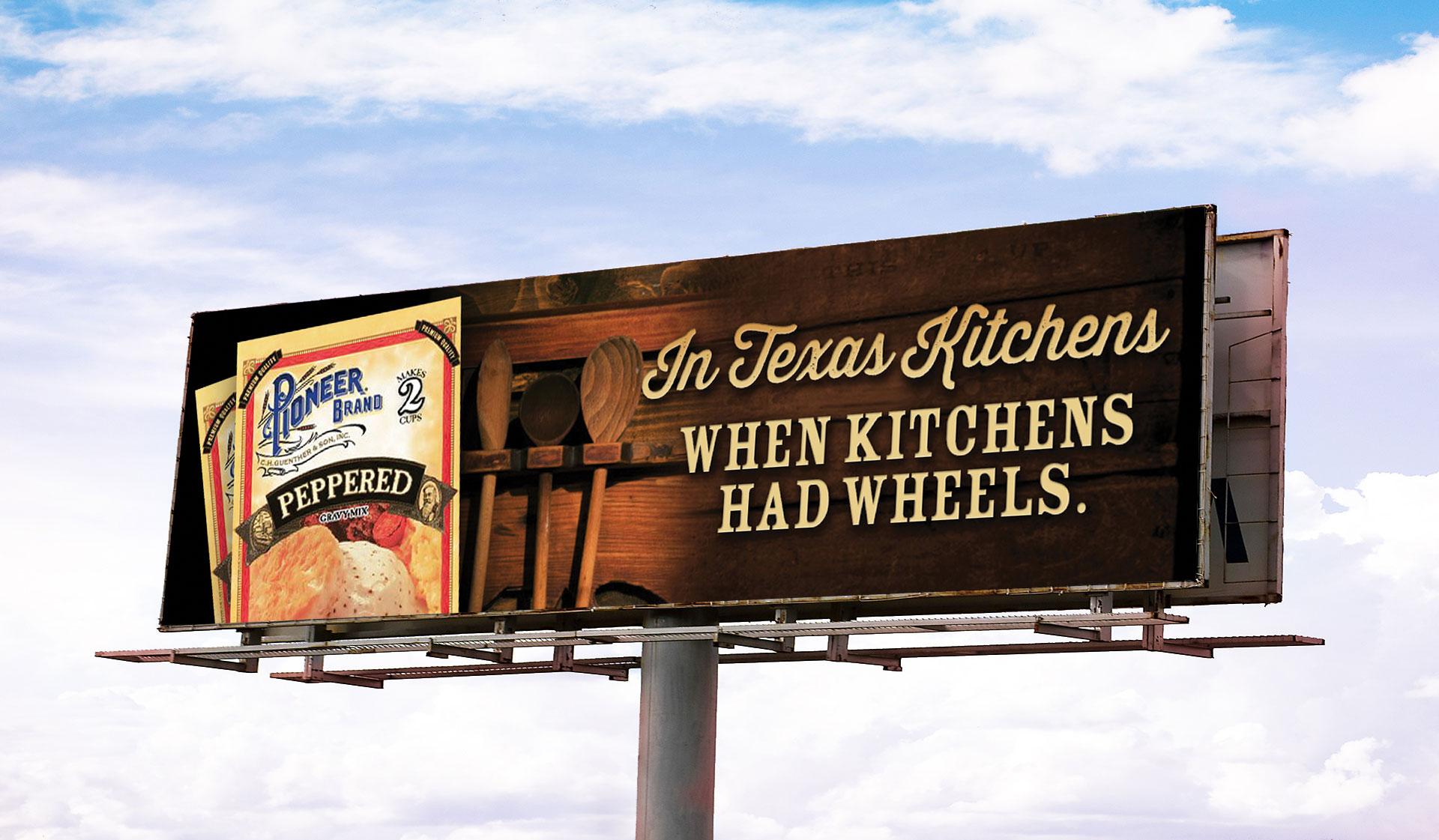 Pioneer Kitchen Billboard