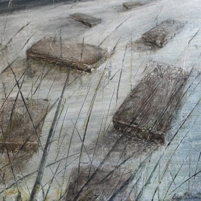 "Eda Lõhmus, Estonia. ""Strange View"" 2011. Canvas, acrylic, 43x50cm"