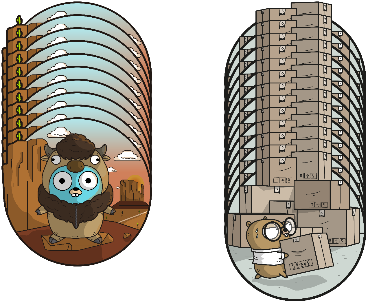 Many front end gophers to many backend gophers