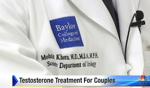 Baylor College of Medicine Takes New Approach to Testosterone Treatment: TV Interview